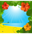 tropical beach scene vector image vector image