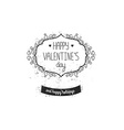 Vintage love label for greeting card vector image vector image