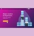 water coolers and dispensers vector image