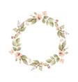 watercolor wreath with leaves and branches vector image