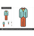 wedding suit line icon vector image vector image