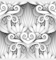 white seamless pattern with floral ornament vector image vector image