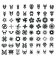 64PCS TRIBAL TATTOO SET vector image