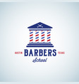 barbers school abstract sign emblem or vector image