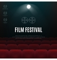 Cinema film festival abstract poster vector image