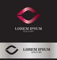 abstract eye logo vector image vector image
