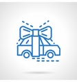 Automobile gift blue line icon vector image vector image