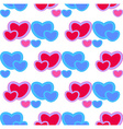 background with red and blue hearts Seamless vector image vector image