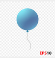 ballon realistic blue isolated vector image vector image