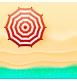 Beach top view umbrella vector image vector image