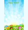 Beautiful Easter Background vector image vector image