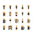 beer mug simple color flat icons set