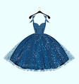 Blue party dress vector image vector image