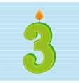 candles years number design vector image vector image