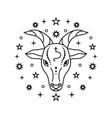 capricorn zodiac sign on white vector image vector image