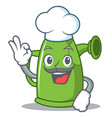 chef watering can character cartoon vector image