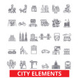 city elements town urban district architecture vector image