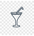 cocktail glass concept linear icon isolated on vector image vector image
