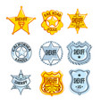 collection of different sheriff railroad police vector image vector image