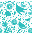 colorful seamless pattern of silhouettes of vector image vector image