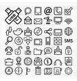 communication icons on White paper eps10 vector image vector image