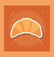delicious croissant bread icon vector image vector image