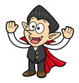 dracula character is welcome halloween day vector image vector image