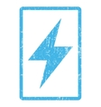 Electric Strike Icon Rubber Stamp vector image vector image