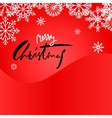 Elegant Red Christmas Snowflakes Card Merry vector image