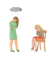 flat people suffering from mental illness vector image vector image