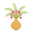 Flower vase vector image vector image