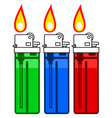 Gas lighter set vector image vector image