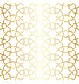 golden lattice arabic moroccan seamless pattern vector image