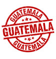 guatemala red round grunge stamp vector image vector image