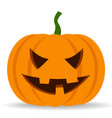 halloween pumpkin with scary face expression vector image