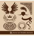 heraldy elements vector image vector image