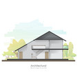 house cross section with empty room vector image