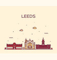 leeds west yorkshire england linear style vector image vector image