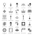light fixture lamps flat glyph icons home and vector image vector image