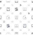 literature icons pattern seamless white background vector image vector image