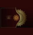 Luxury ornamental mandala background with arabic