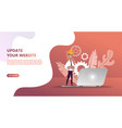 maintenance update system upgrate concept vector image vector image