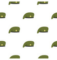 military cap pattern flat vector image vector image