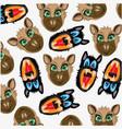 mug animal decorative pattern vector image