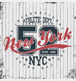 new york athletic sportswear emblem athletic vector image vector image
