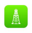 oil derrick icon green vector image vector image