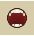 Open Vampire Mouth with Teeth vector image vector image