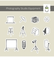 Photography Studio Equipment vector image vector image