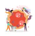pizza restaurant concept for web banner vector image