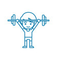 powerlifting linear icon concept powerlifting vector image